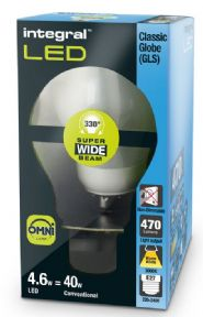 40W LED Filament Bulb Replacement | E27 LED Screw | 330 Beam Angle | INTEGRAL